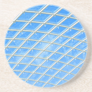 Glass background beverage coasters