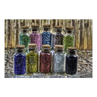 Glass Beads Poster