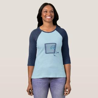 Glass block birds flying, fractal design T-Shirt