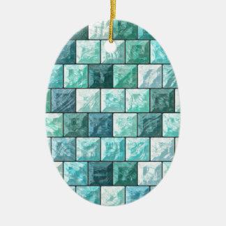 Glass blocks texture ceramic ornament