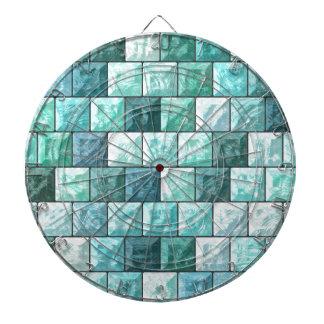 Glass blocks texture dartboard