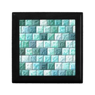 Glass blocks texture gift box