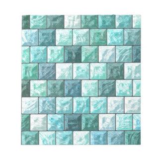 Glass blocks texture notepad