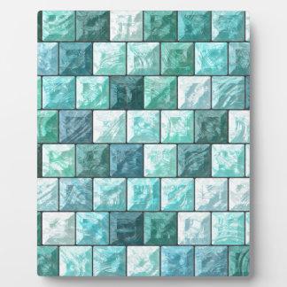 Glass blocks texture plaque