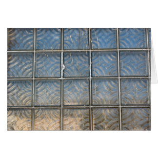 glass bricks card