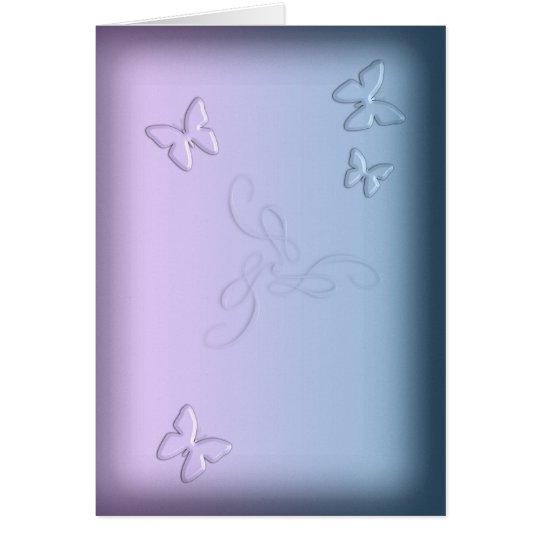 Glass Butterflies (portrait) Card