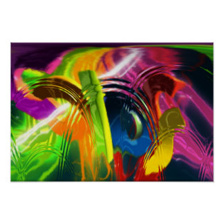 glass colors abstract poster