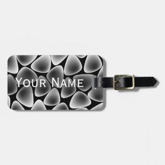 Glass crystals luggage tag