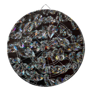 Glass Crystals Reflections Dartboard With Darts