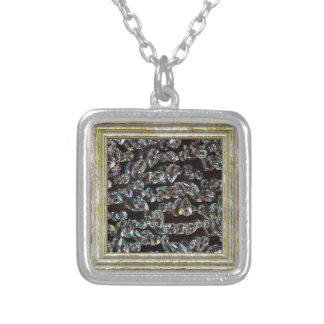 Glass Crystals Reflections Silver Plated Necklace
