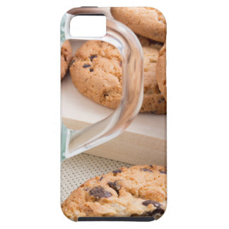 Glass cup with milk and oatmeal cookies case for the iPhone 5