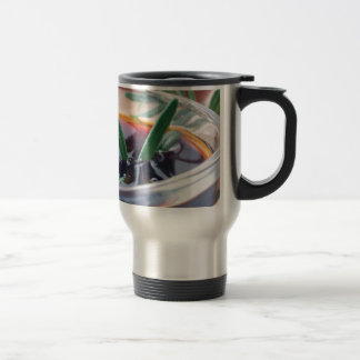 Glass cup with soy sauce and rosemary