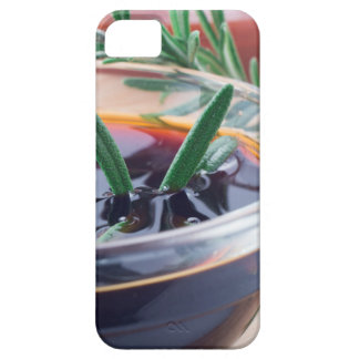 Glass cup with soy sauce and rosemary case for the iPhone 5