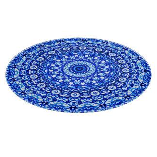 Glass Cutting Board Mandala Mehndi Style G403