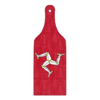Glass cutting board paddle - Isle Of Man flag