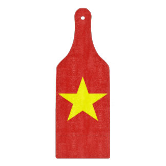 Glass cutting board paddle - Vietnam flag