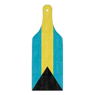 Glass cutting board paddle with flag of Bahamas