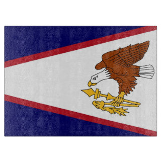 Glass cutting board with Flag of American Samoa