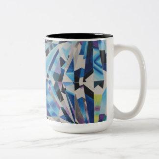 Glass Diamond Black 15 oz Two-Tone Mug