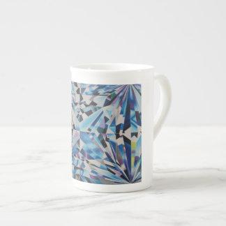 Glass Diamond Bone China Mug