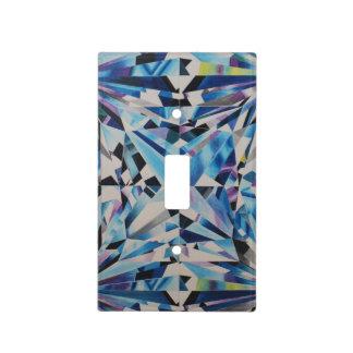 Glass Diamond Single Toggle Light Switch Cover