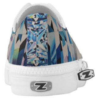 Glass Diamond Zipz Low Top Shoes
