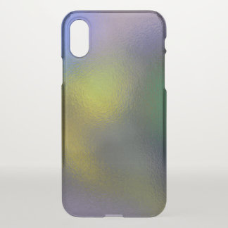 Glass Distort (11 of 12) (Yellow) iPhone X Case