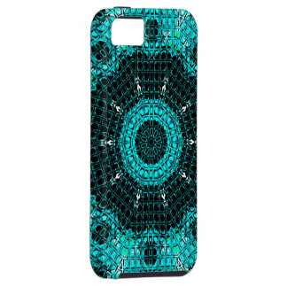 Glass Effect Mosaic Aquamarine iPhone 5 Cover