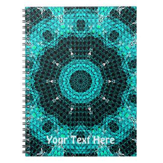 Glass Effect Mosaic Aquamarine Notebook