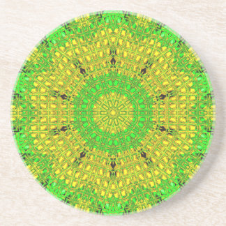 Glass Effect Mosaic Green/Yellow Drink Coasters