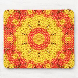 Glass Effect Mosaic Orange/Yellow Mouse Pad