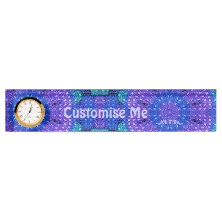 Glass Effect Mosaic Purple/Blue Desk Nameplate