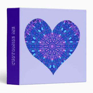 Glass Effect Mosaic Purple/Blue (Heart) Binder