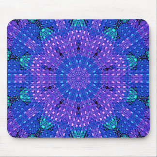 Glass Effect Mosaic Purple/Blue Mouse Pad