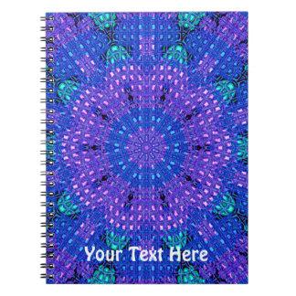 Glass Effect Mosaic Purple/Blue Spiral Notebooks