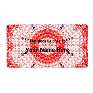 Glass Effect Mosaic Red/White Shipping Label