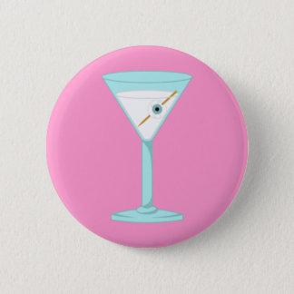 Glass Eye Human Eyeball Martini 2 Inch Round Button
