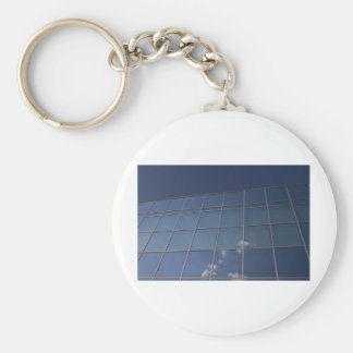 glass facade - corporate building keychain