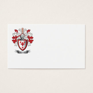 Glass Family Crest Coat of Arms Business Card