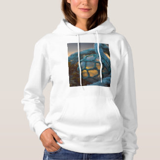 Glass fishing float, Sunset, Alaska Hoodie