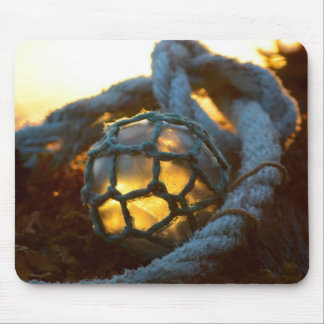 Glass float glows at sunset, Alaska Mouse Pad
