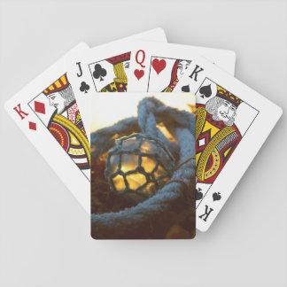 Glass float glows at sunset, Alaska Playing Cards