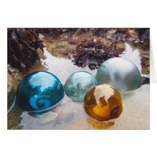 Glass Floats on water Greeting Card