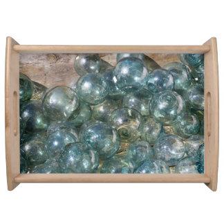Glass Floats - Photo Art Serving Tray