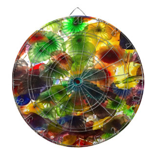 GLASS FLOWERS DARTBOARD