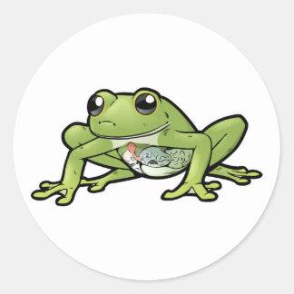 Glass Frog Round Sticker
