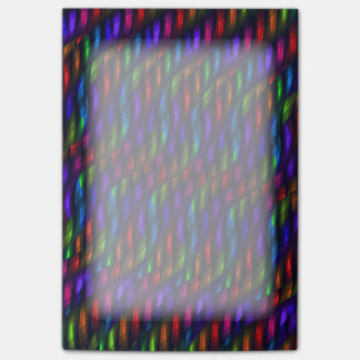 Glass Gem Blue Red Mosaic Abstract Artwork Post-it Notes