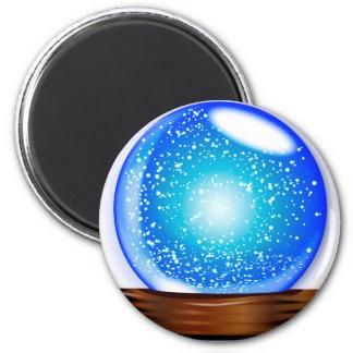 Glass Globe Smow Storm 2 Inch Round Magnet