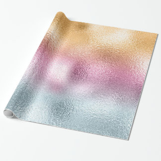 Glass Gradient and Splatter Monogram Pink ID444 Wrapping Paper