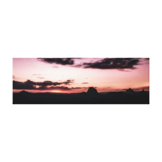 Glass House Mountains at Dusk Canvas Print